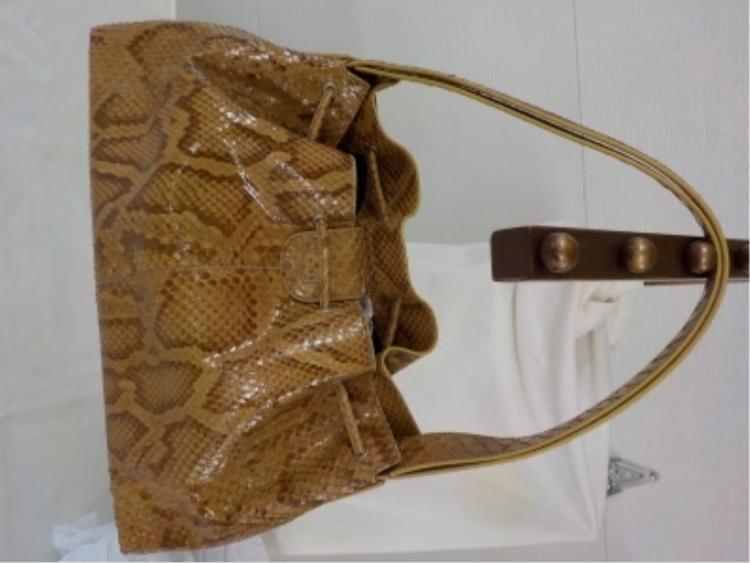 TOD'S Snake Skin Handbag Vintage 1980s Never Used