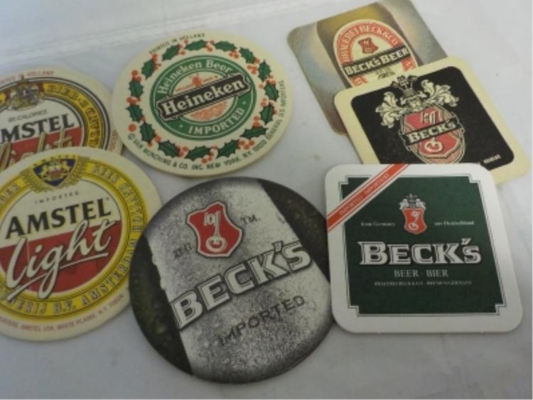 7 Drink Coasters Amstel Light Beck's Heineken