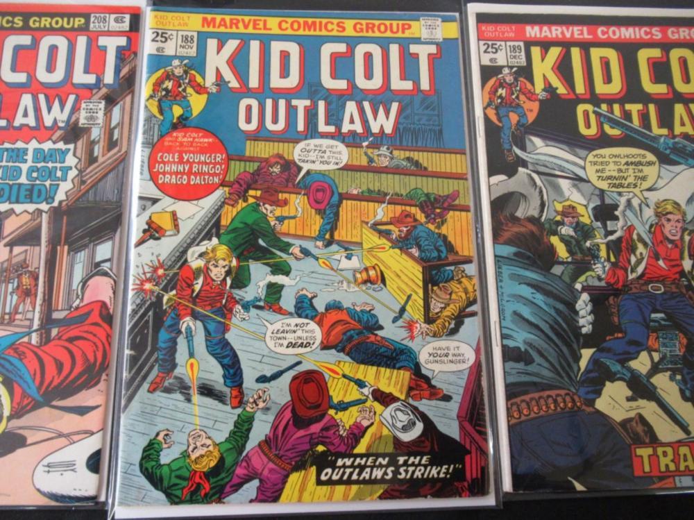 Lot 4: 3 Kid Colt Outlaw #188, 189, 208