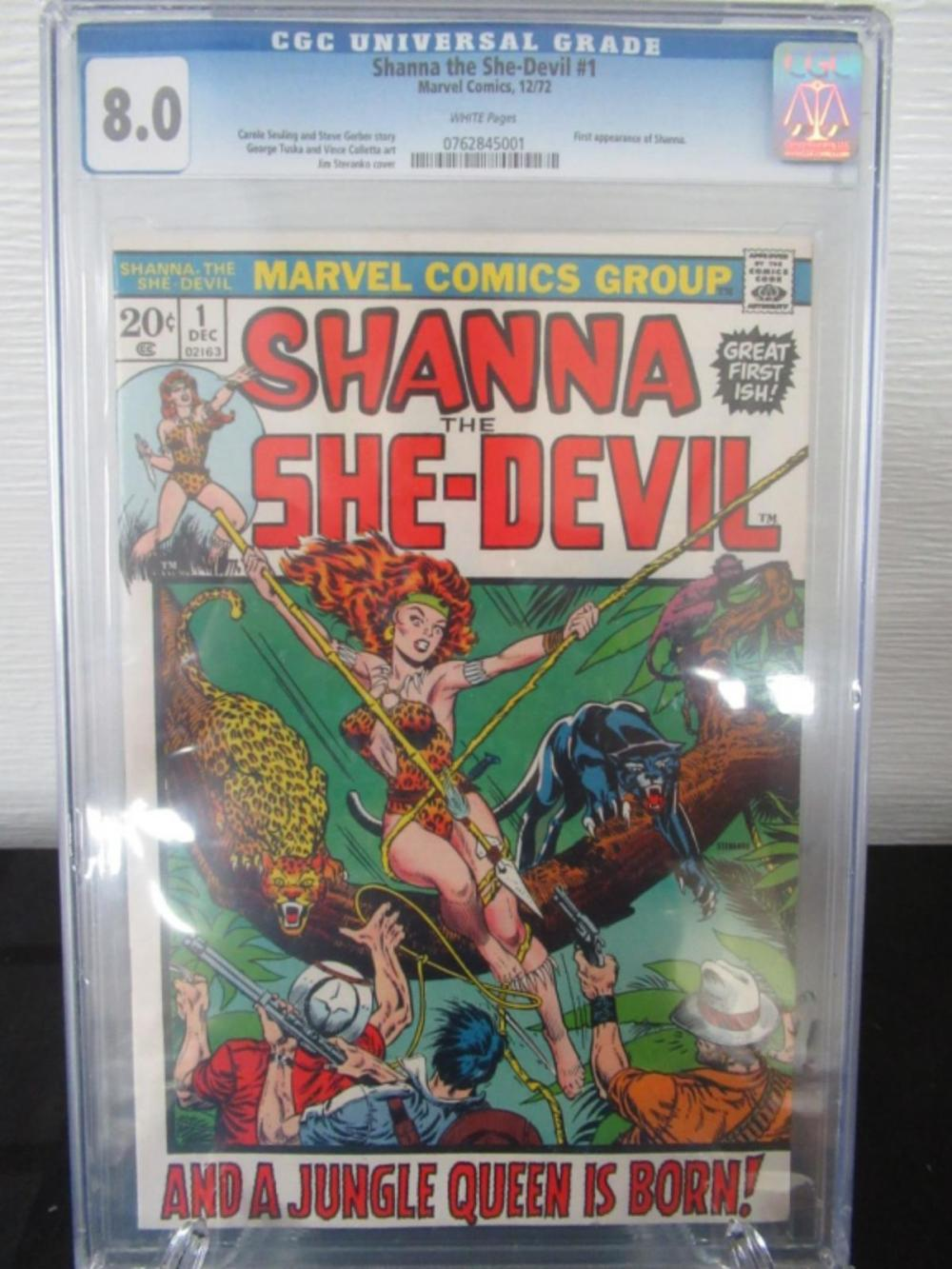 Shanna the She-Devil #1 CGC 8.0