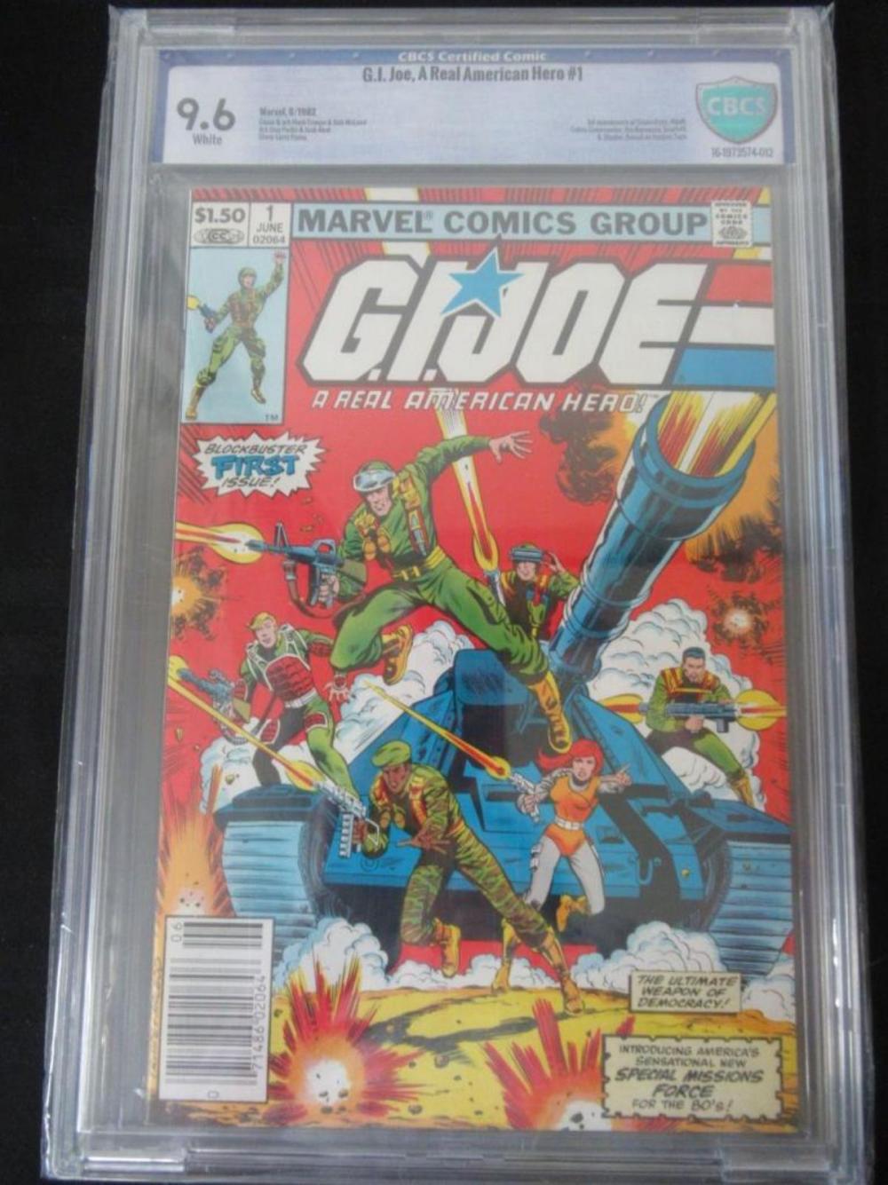 G.I. Joe, A Real American Hero #1 CBCS 9.6
