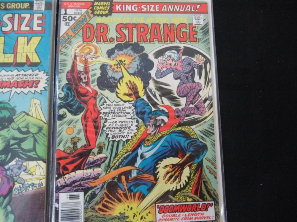 Lot 19: Giant-Size Hulk #1 King-Size Annual Dr Strange #1