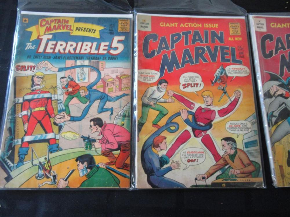 Lot 22: 3 Captain Marvel & The Terrible 5 all 1966