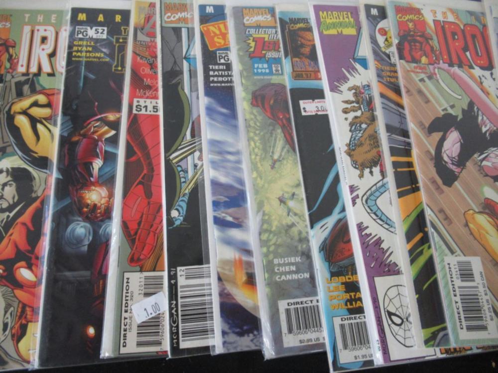 Lot 24: 38 The Invincible Iron Man Comics various series