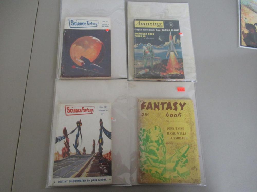 2 Science Fantasy, Amazing SFI, Fantasy Book