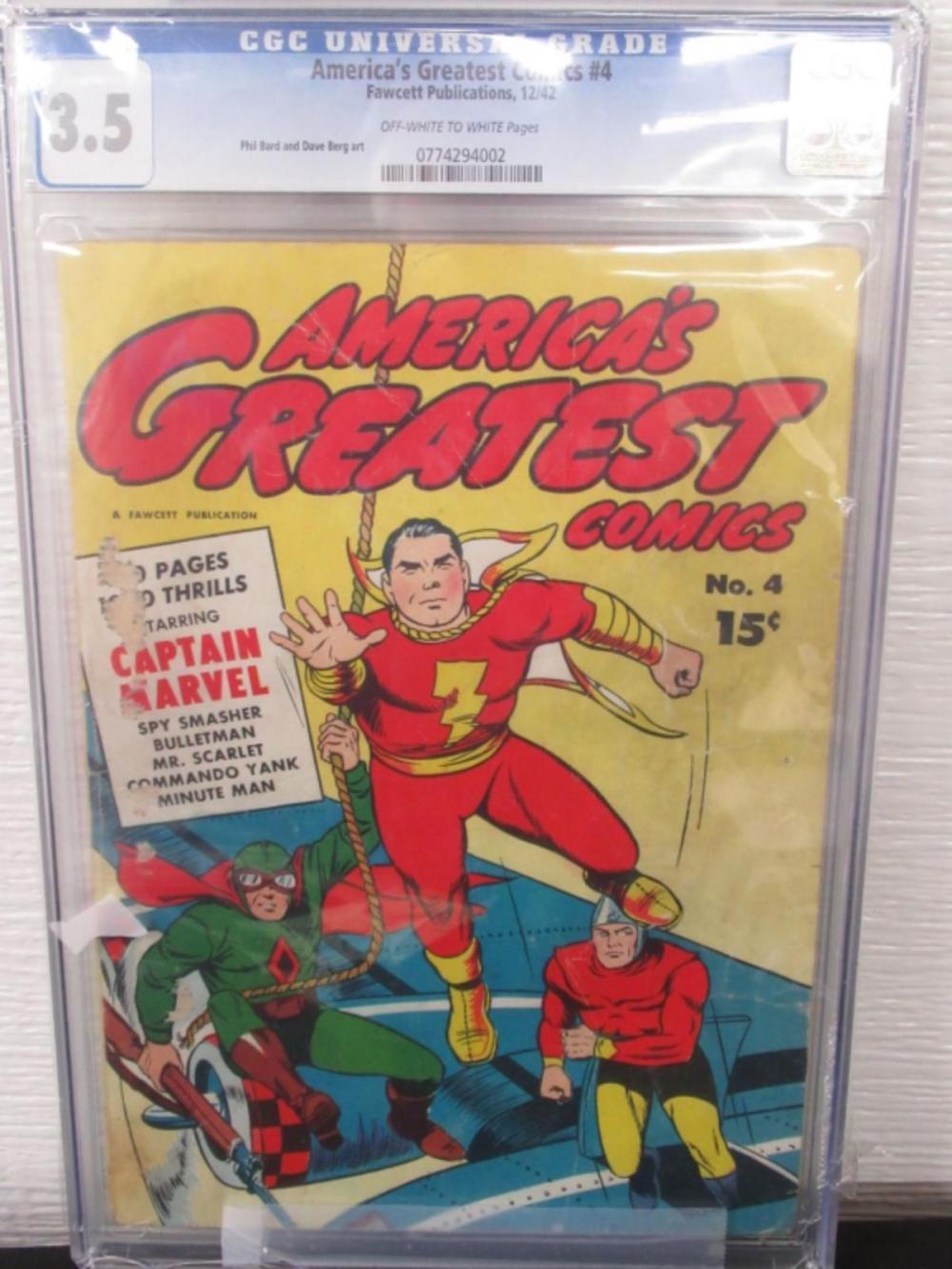 America's Greatest Comics #4 CGC 3.5