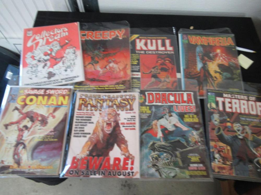 8 Horror Theme Magazines: Vamperilla, Conan