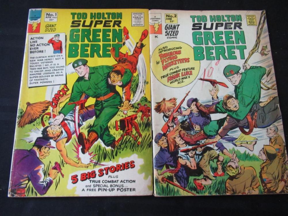 Tod Holton Super Green Beret #1 &# 2 25c