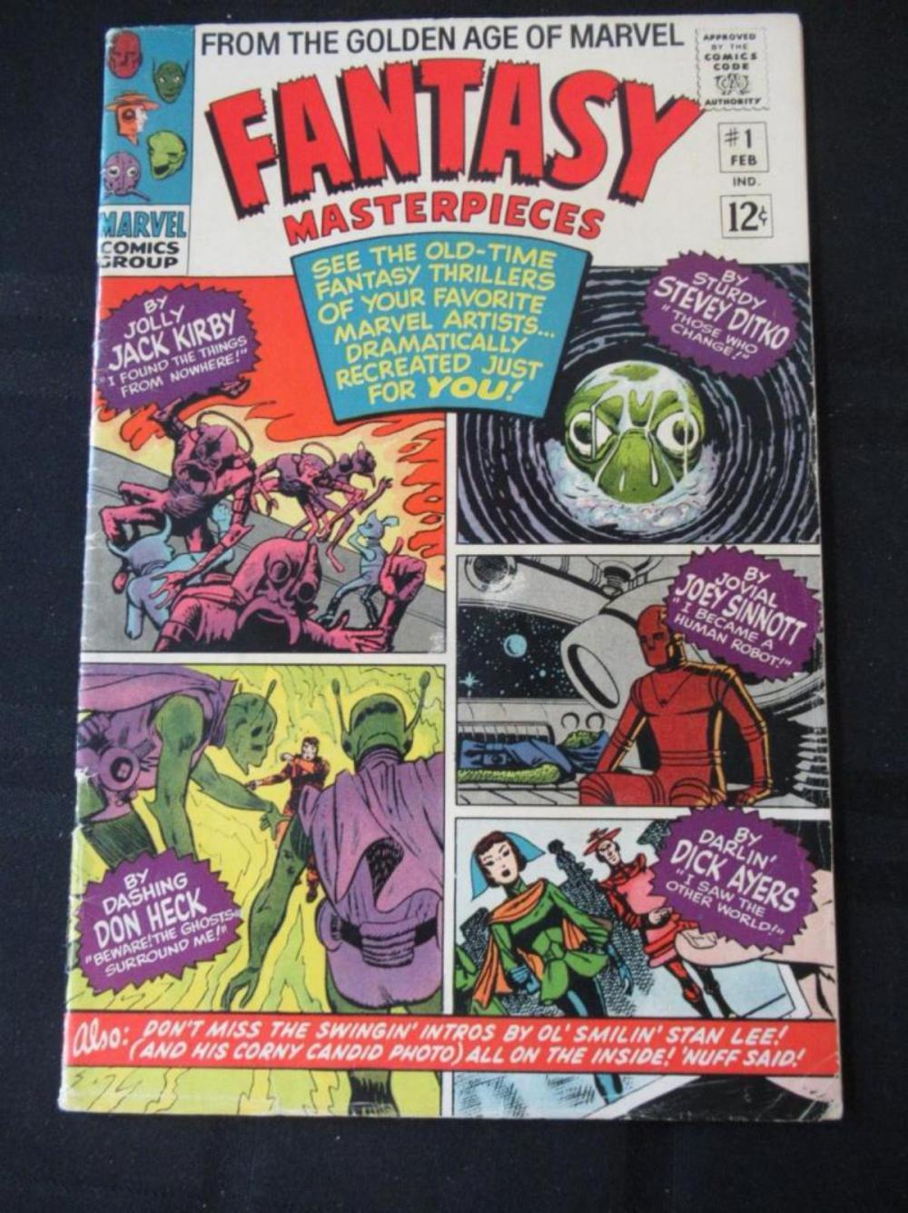 Lot 41: Fantasy Masterpieces 12c #1 intro by Stan Lee