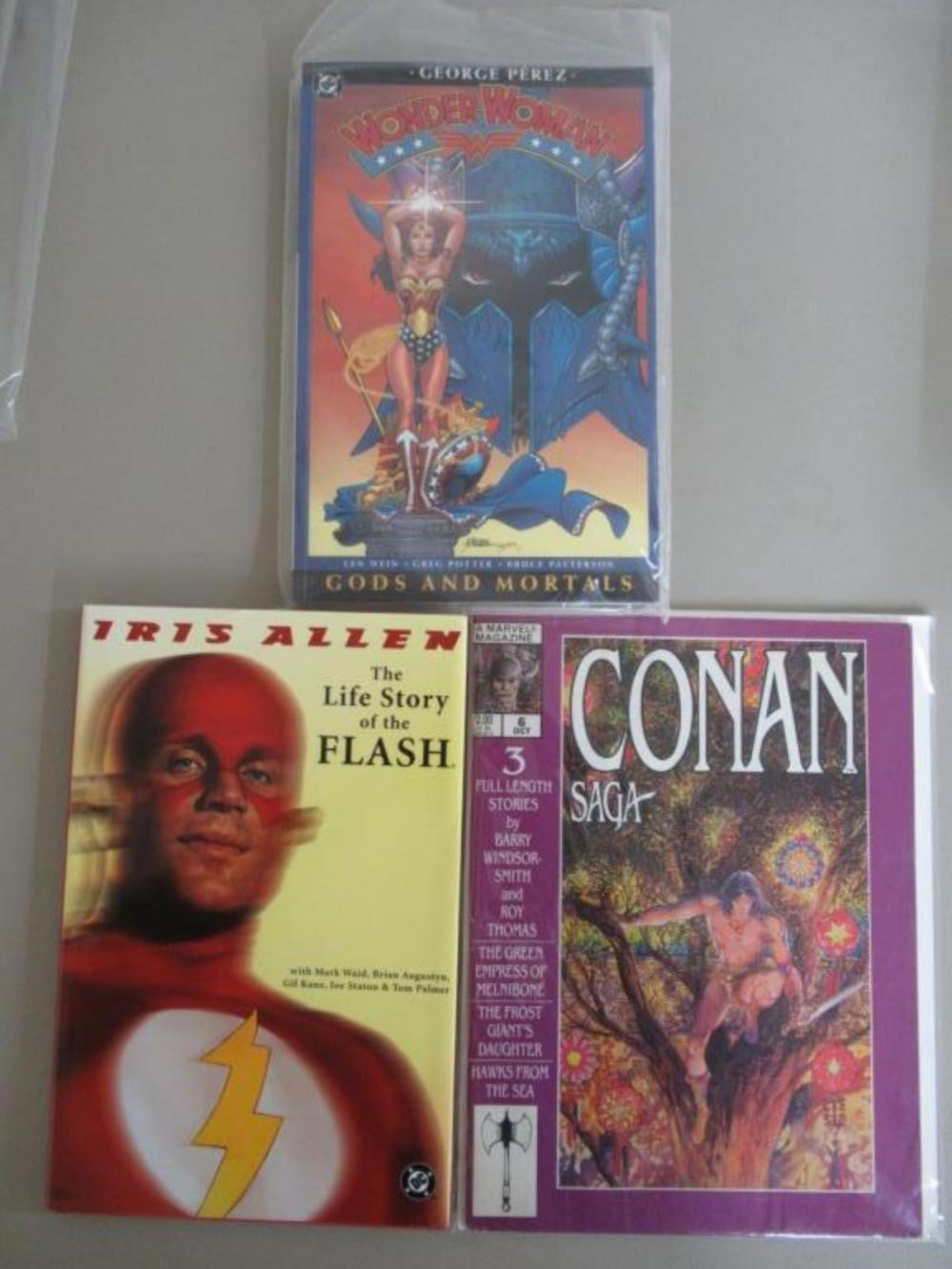 Wonder Woman, Flash, Conan Graphic Novels