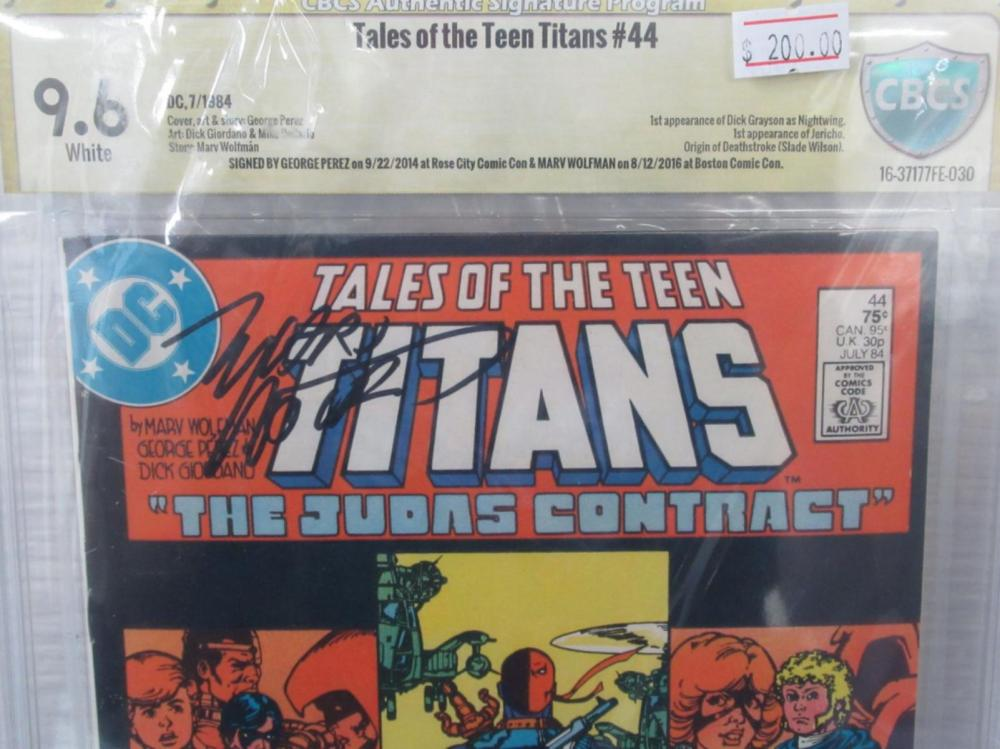 Lot 47: Tales of the Teen titans #44 CBCS 9.6 Dick Grayson