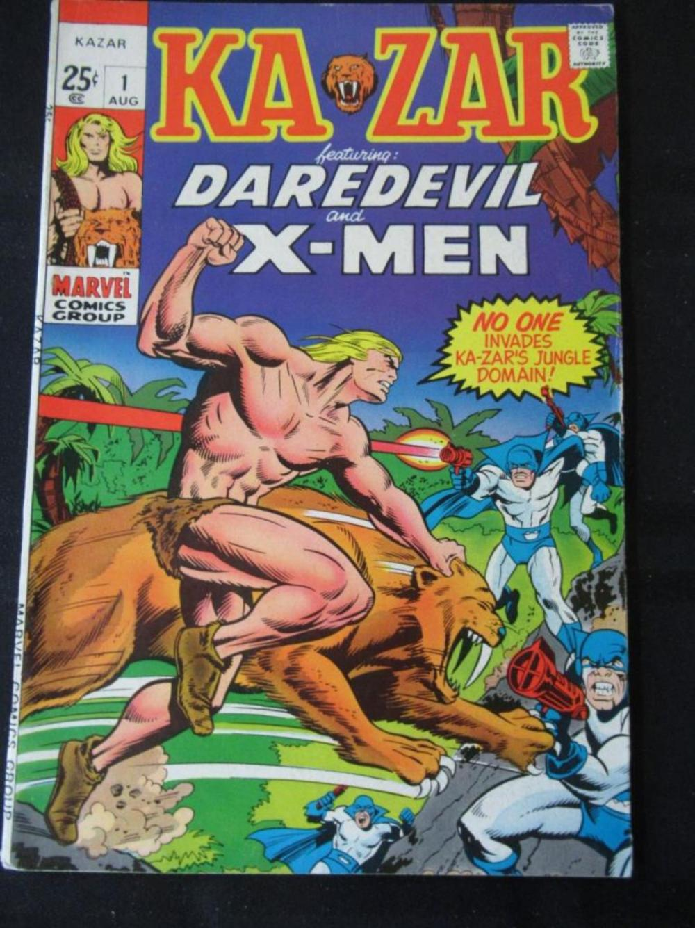 Lot 49: Ka Zar #1 25c Daredevil and X-Men