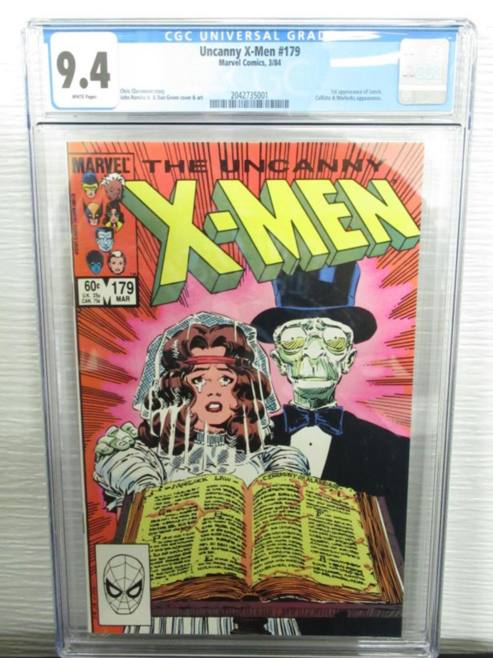 Uncanny X-Men #179 CGC 9.4 1st Leech, Callisto