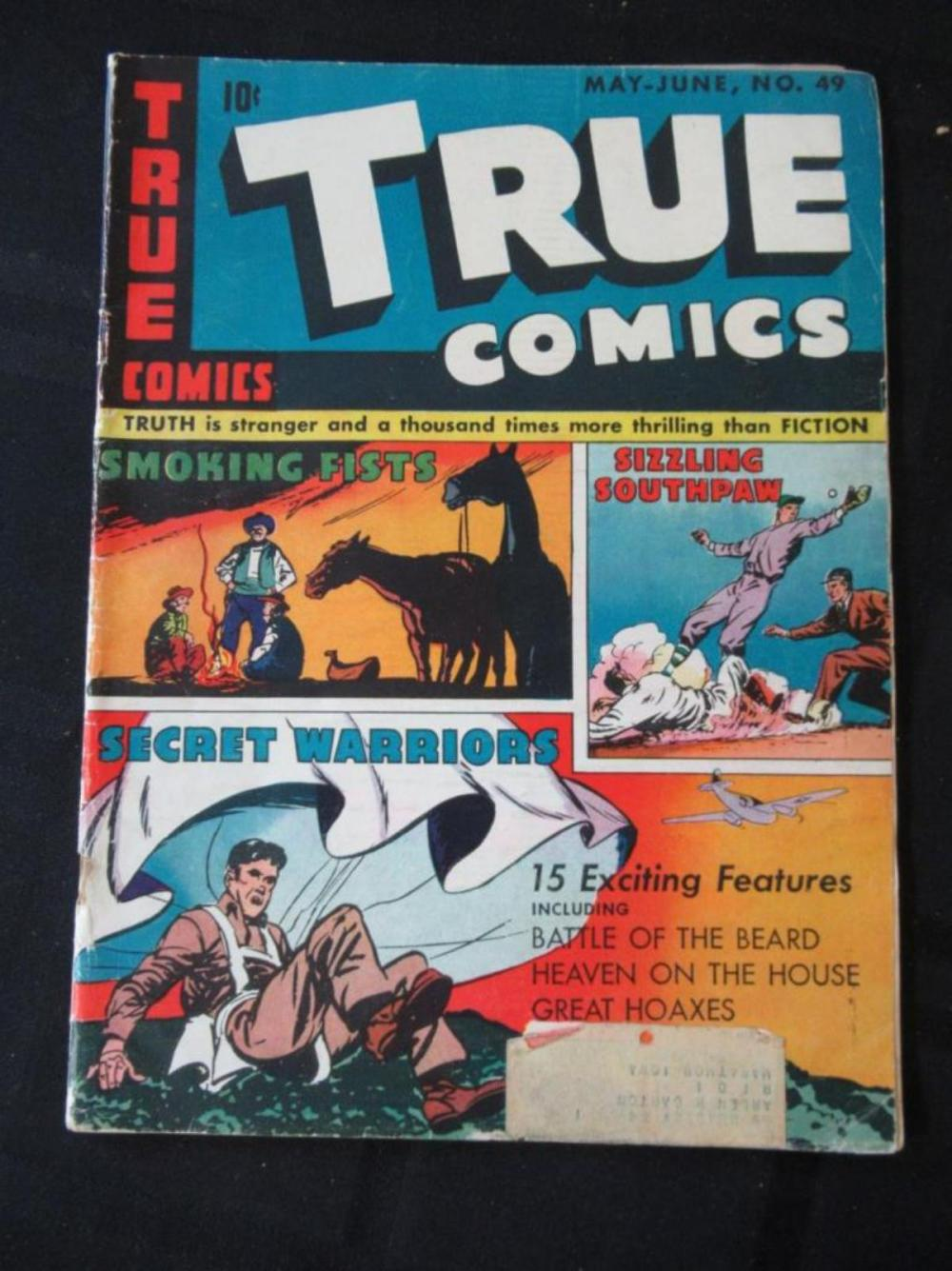 Lot 53: True Comics 10c #49 Smoking Fists
