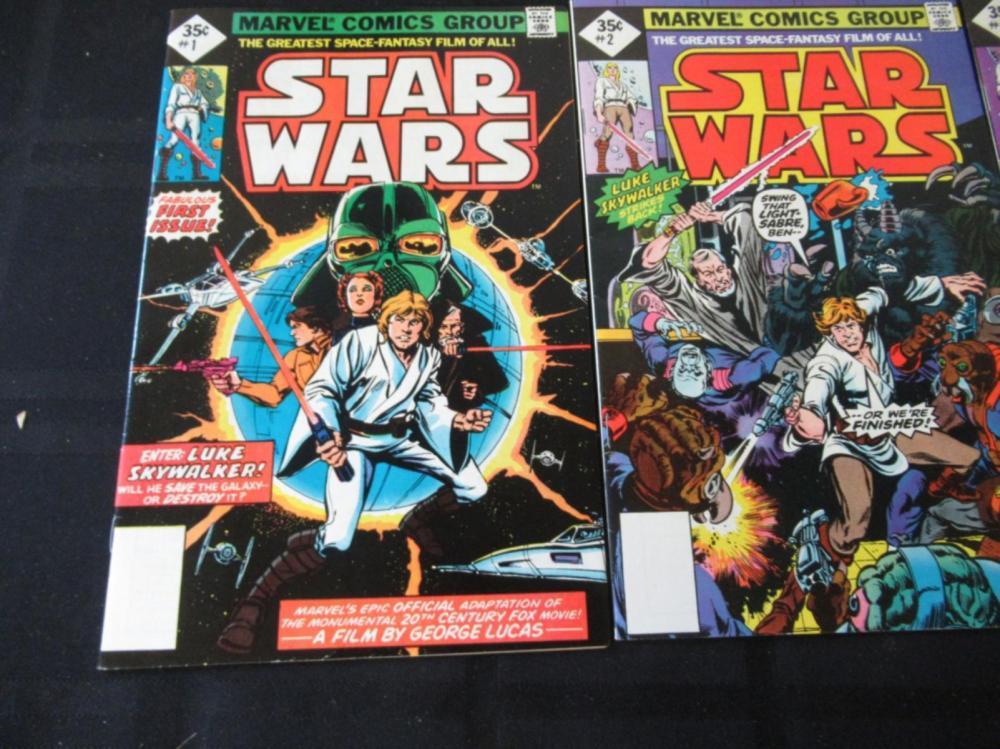 Star Wars #1, 2, 3 reprints 1977
