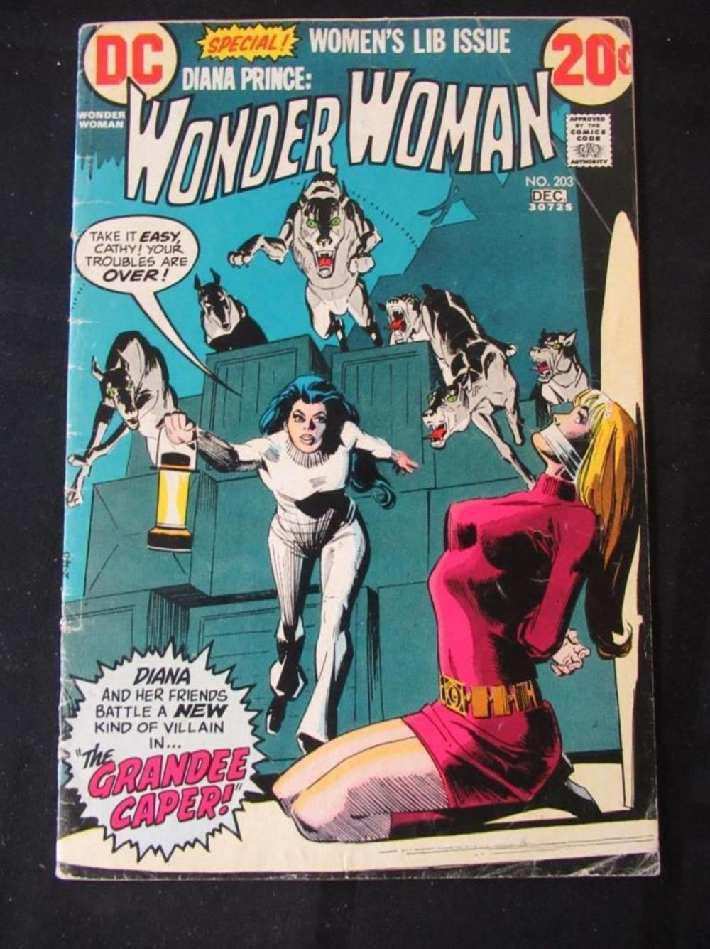 Diana Prince wonder Woman 20c #203 Grandee Caper