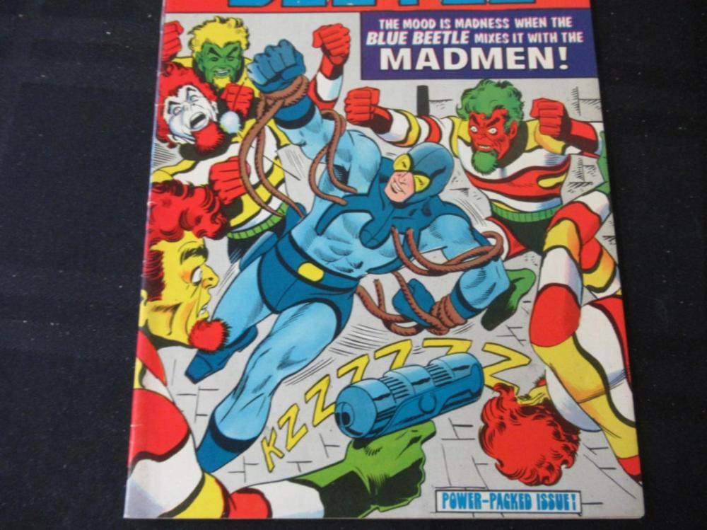 Lot 70: Blue Beetle 35c #3 Mixes it with the Madmen