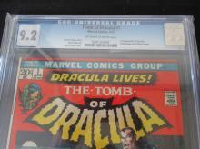 Lot 80: Tomb of Dracula #1 CGC 9.2 1st Dracula