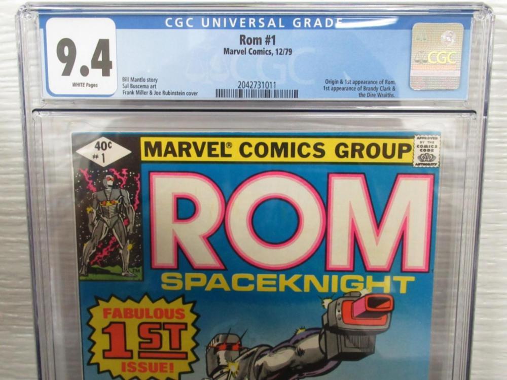 Lot 79: Rom #1 CGC 9.4 original & 1st Rom, Brandy Clark