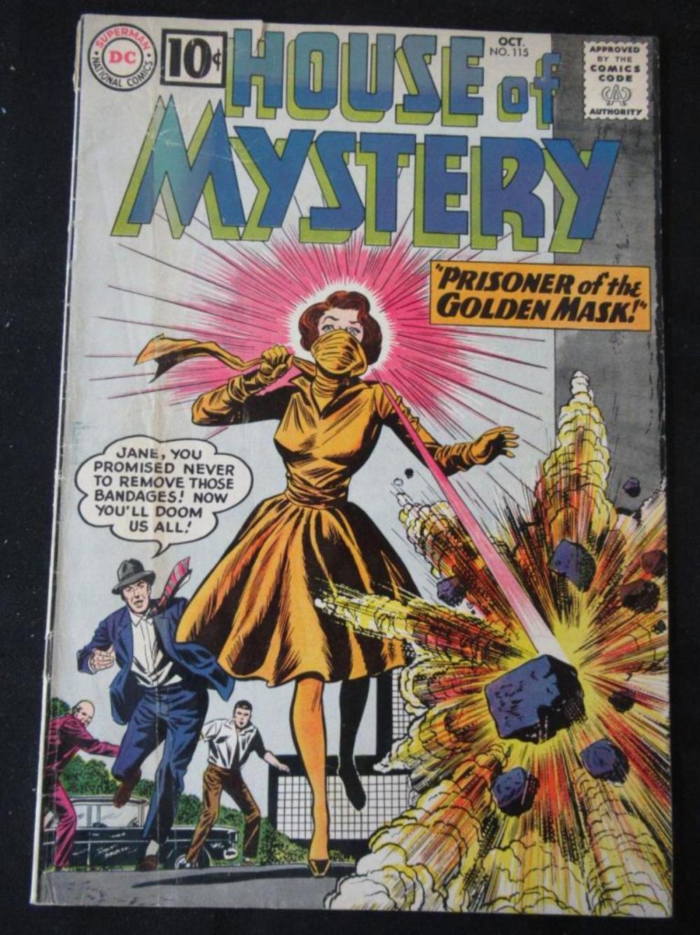 House of Mystery 10c #115 Prisoner of Golden Mask