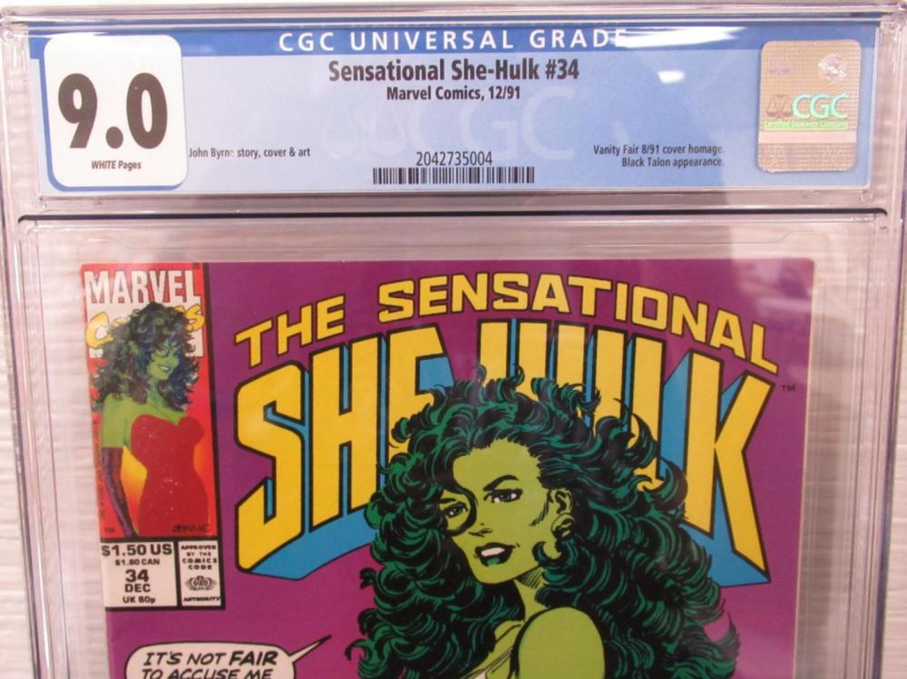 Lot 86: Sensational She-Hulk #34 CGC 9.0 Vanity Fair Cover