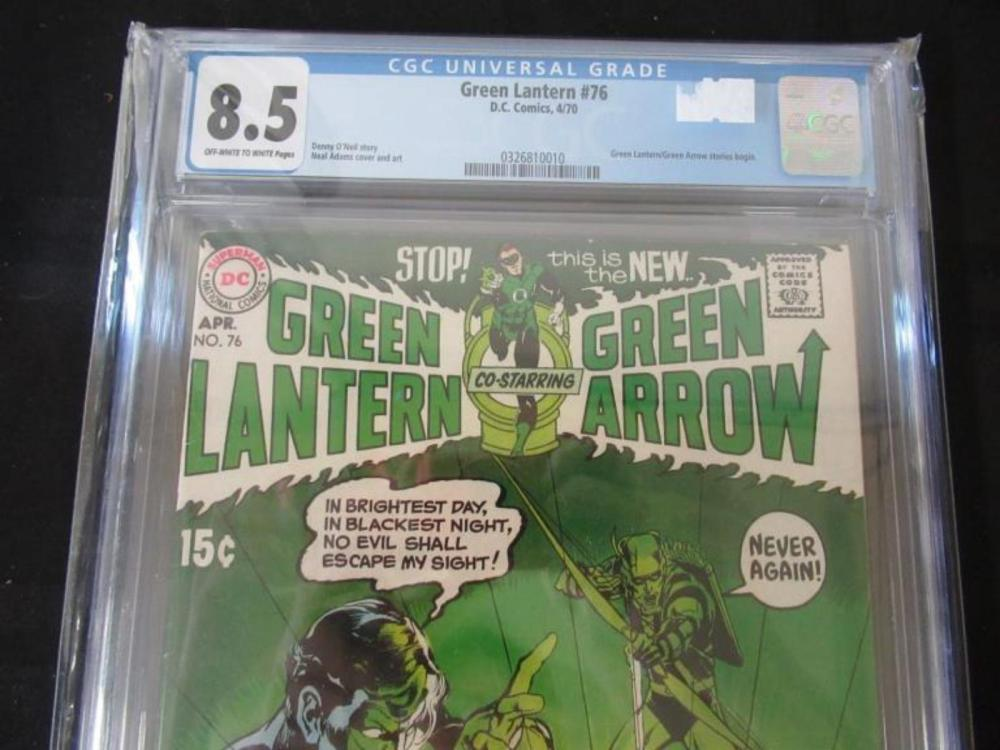 Lot 92: Green Lantern #76 CGC 8.5 Beginning GL & GA story