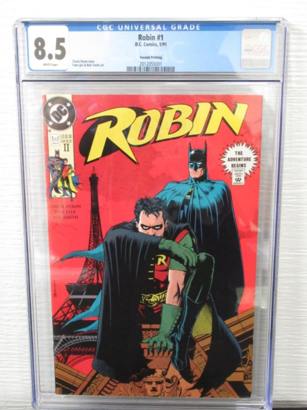 Robin #1 CGC 8.5 2nd printing