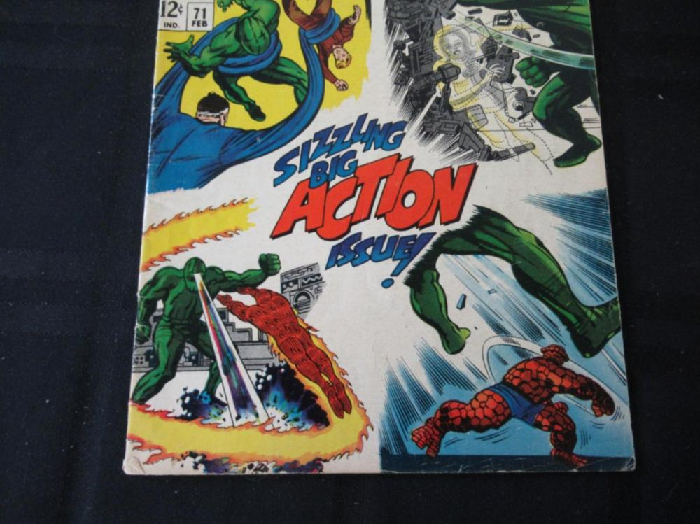 Lot 91: Fantastic Four 12c #71 Big Action Issue!