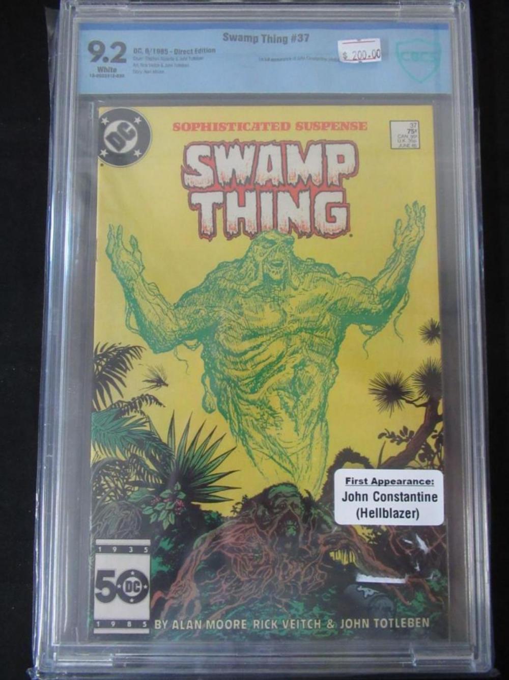 Swamp Thing #37 CBCS 9.2 1st full J Constantine