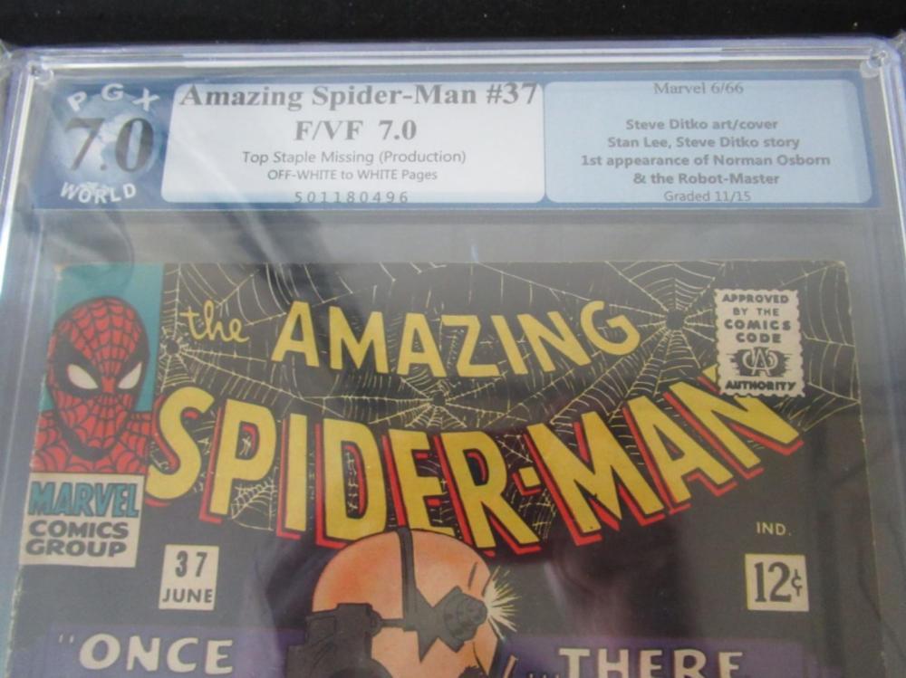 Lot 99: Amazing Spider-Man #37 PGX 7.0 Ditko Cover/Art