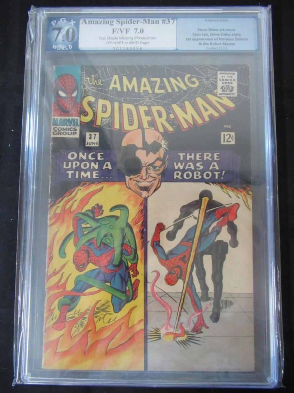 Amazing Spider-Man #37 PGX 7.0 Ditko Cover/Art