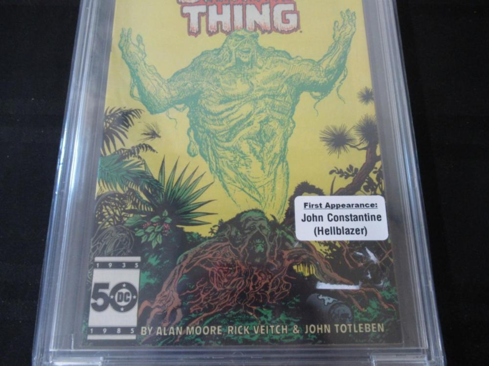 Lot 98: Swamp Thing #37 CBCS 9.2 1st full J Constantine