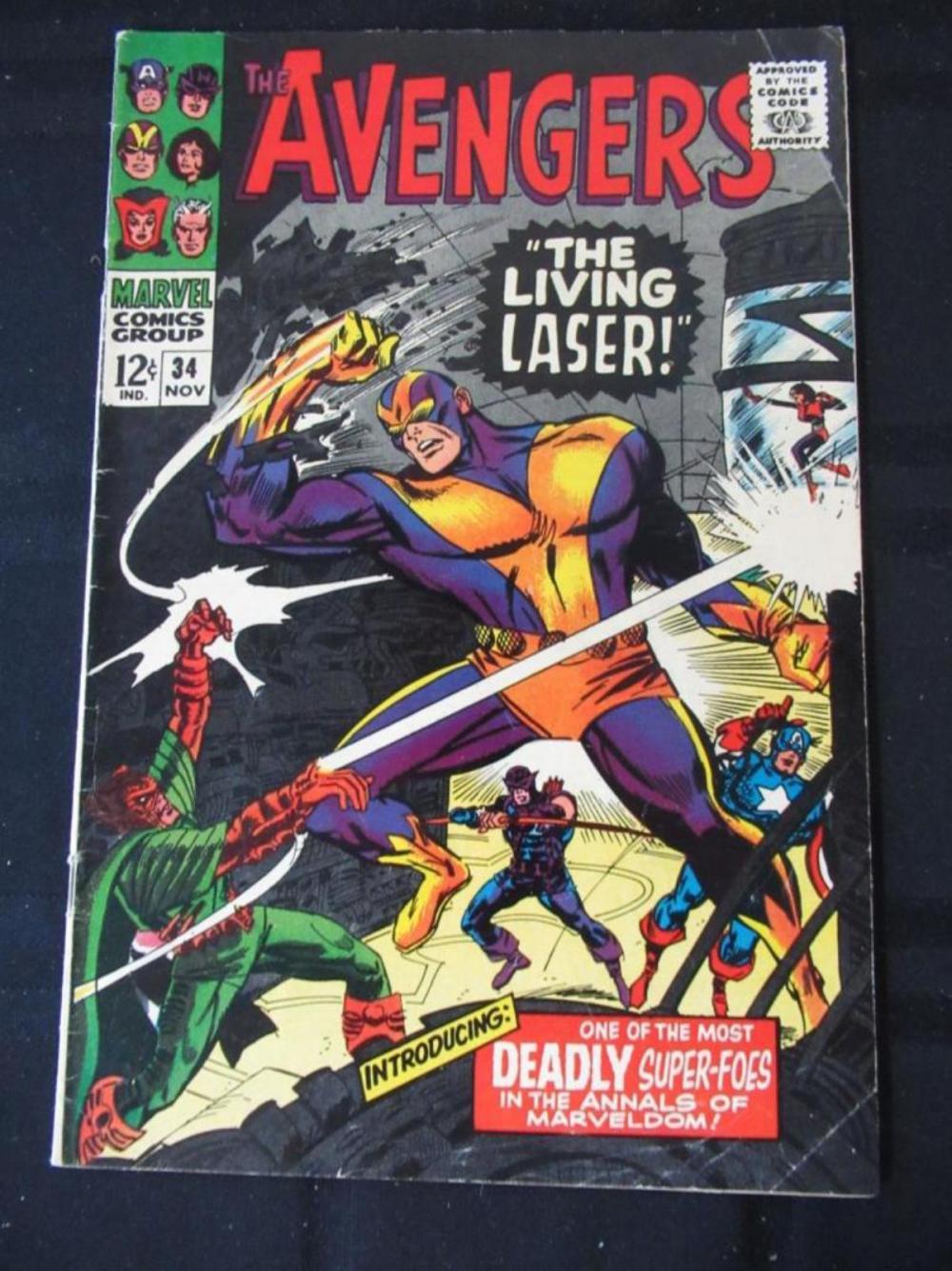 The Avengers 12c #34 The Living Laser!