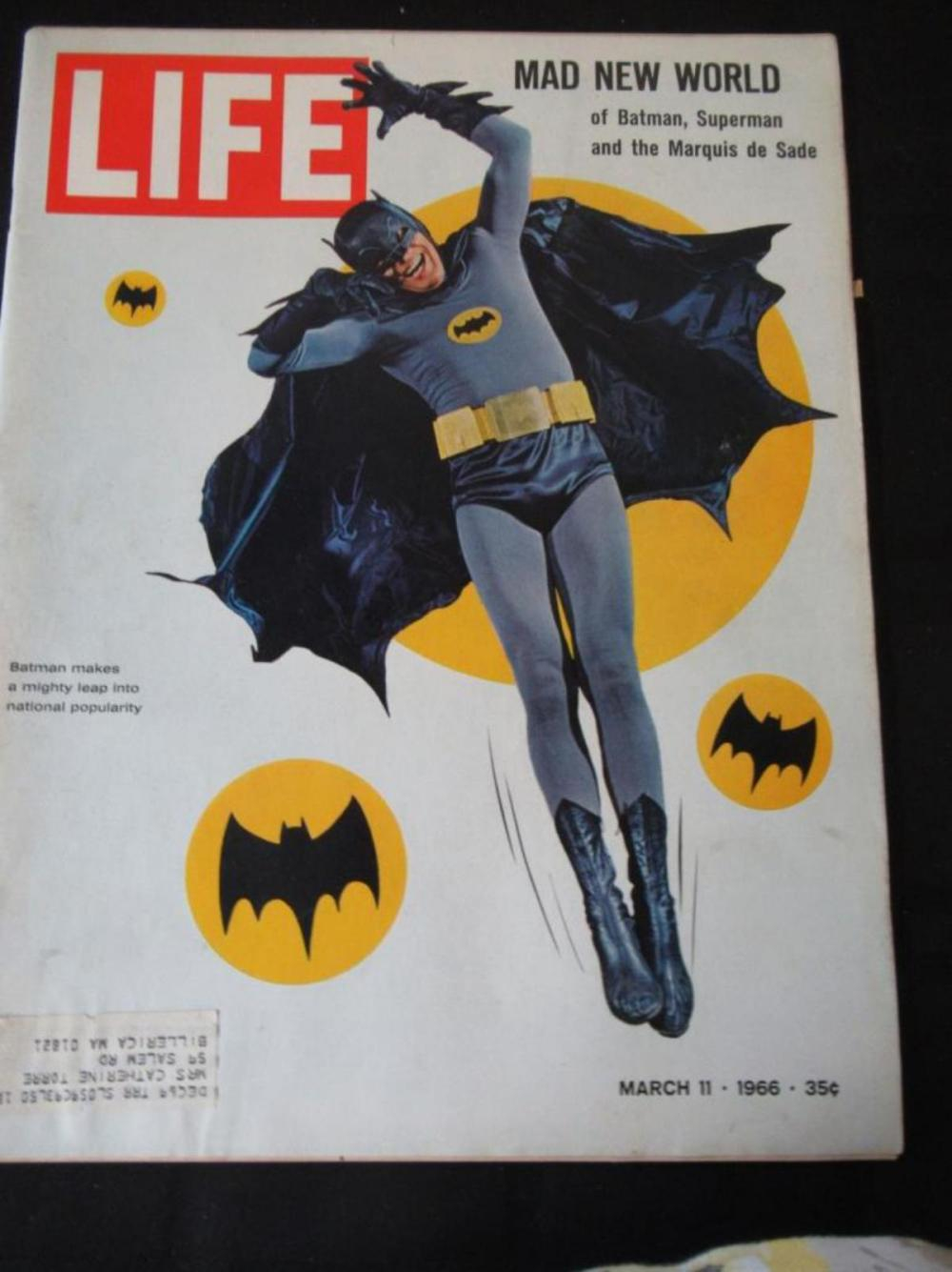 Life Magazine Batman Makes Mighty Leap March 1966