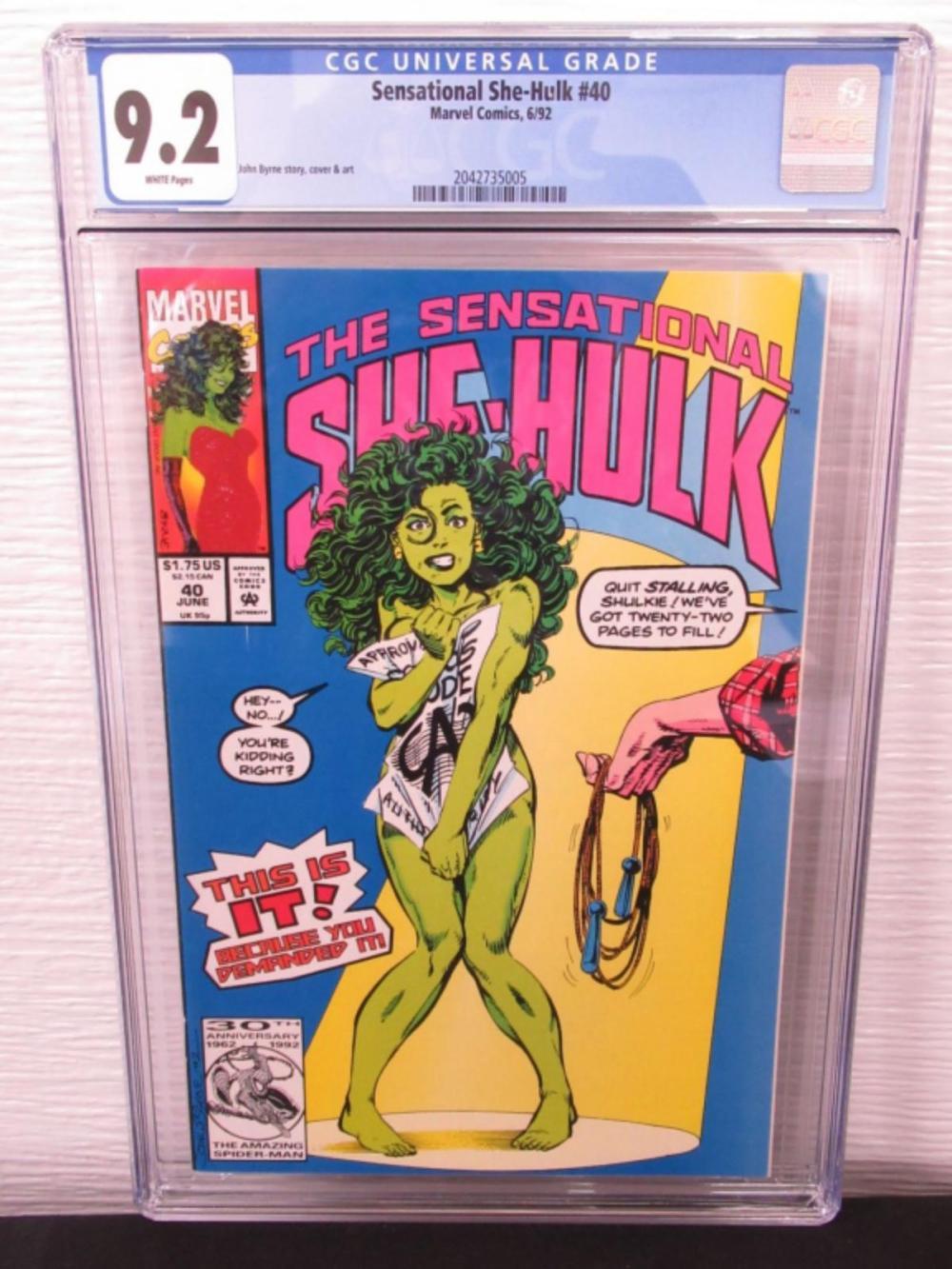 Sensational She-Hulk #40 CGC 9.2