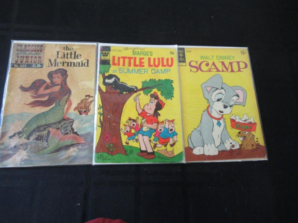 Little Mermaid, Little LuLu, Scamp 15-25c Comics