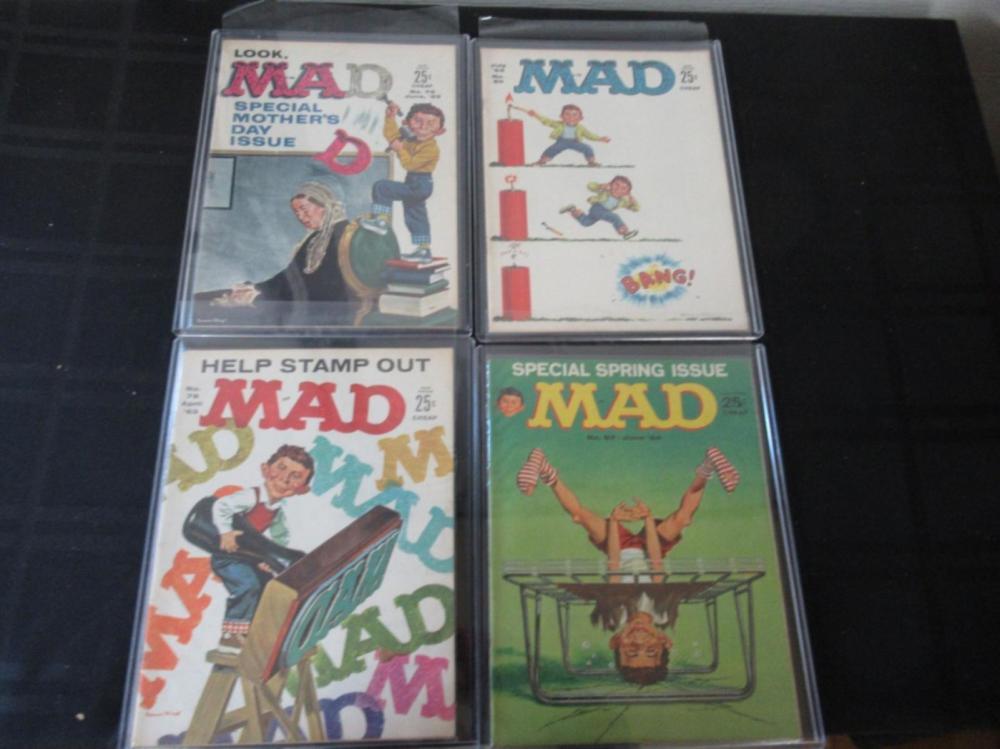 4 Mad Magazines #87, 78, 80, 79