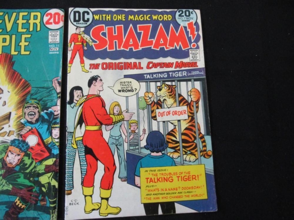 Lot 108: Shazam #7, Leatherneck #4, Forever People #11
