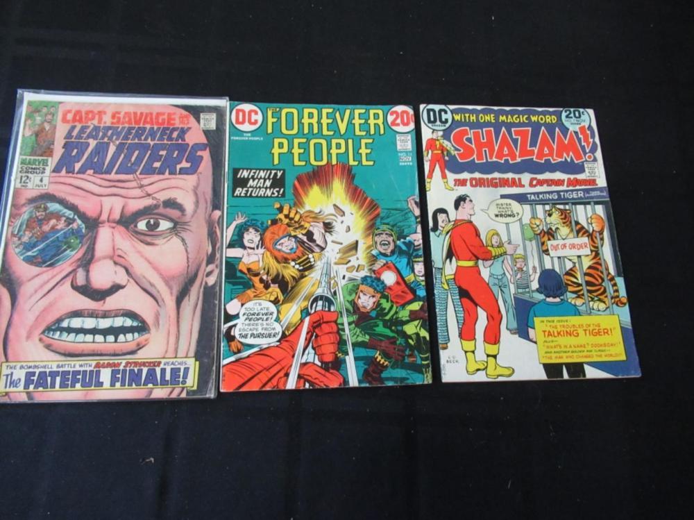 Shazam #7, Leatherneck #4, Forever People #11