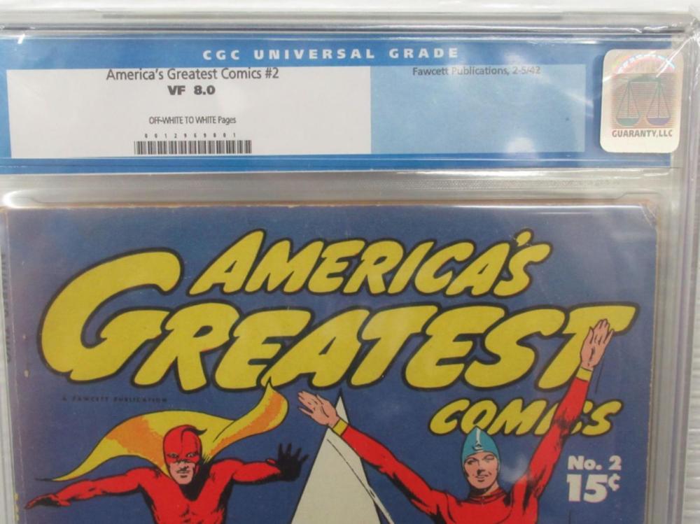 Lot 112: America's Greatest Comics #2 CGC 8.0