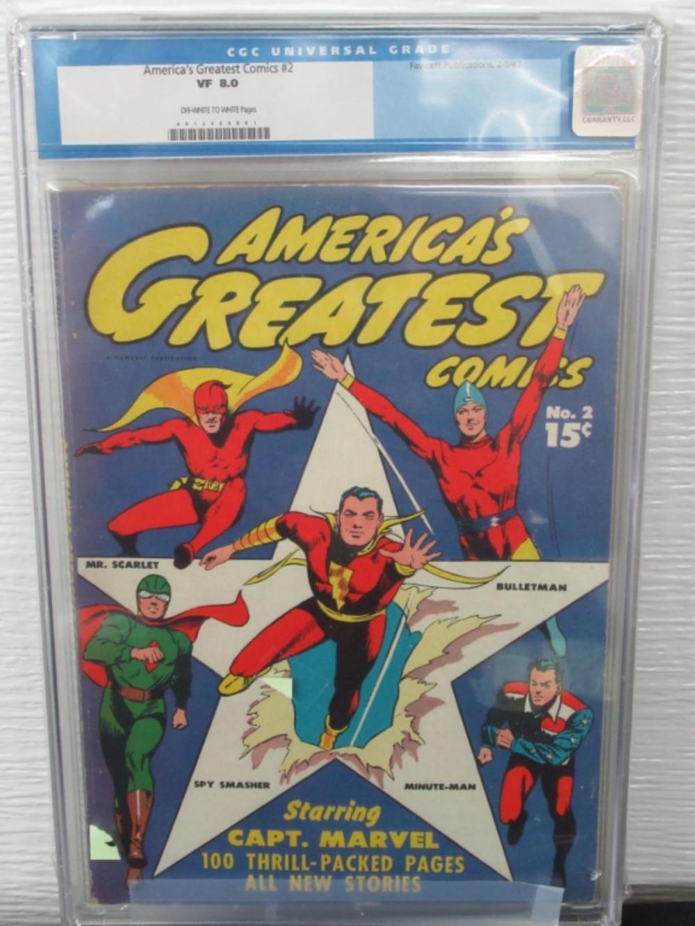 America's Greatest Comics #2 CGC 8.0