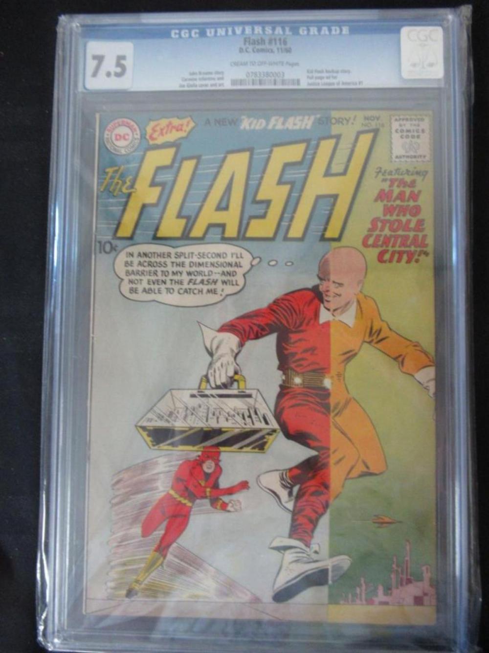 Flash #116 CGC 7.5 Kid Flash backup story