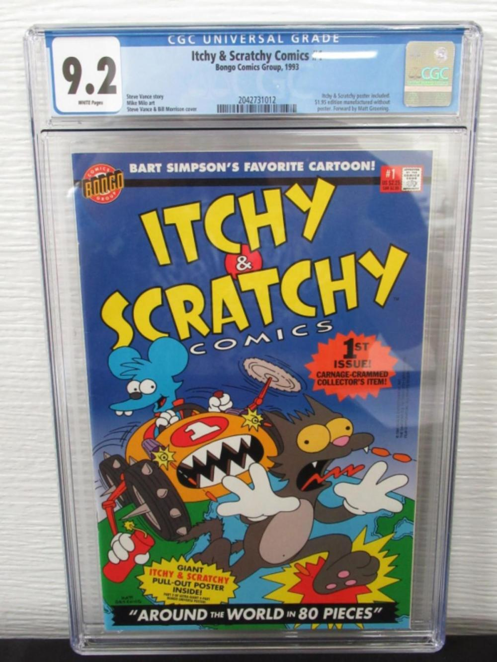 Itchy & Scratchy Comics #1 CGC 9.2 w poster