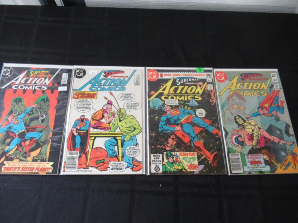 Action Comics #513, 531, 563, 576
