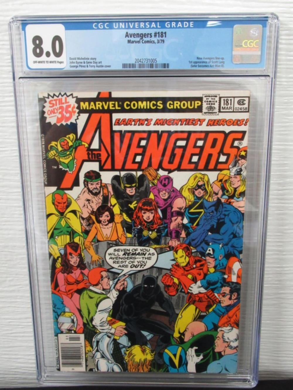 Avengers #1818 CGC 8.0 New Avengers Line UP