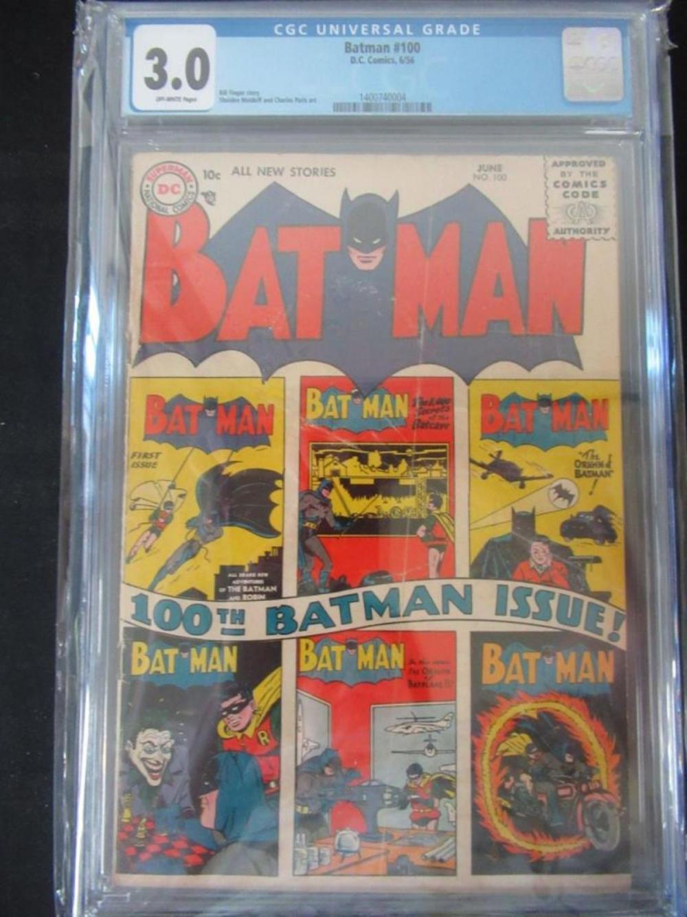 Batman #100 CGC 3.0 Bill Finger Story