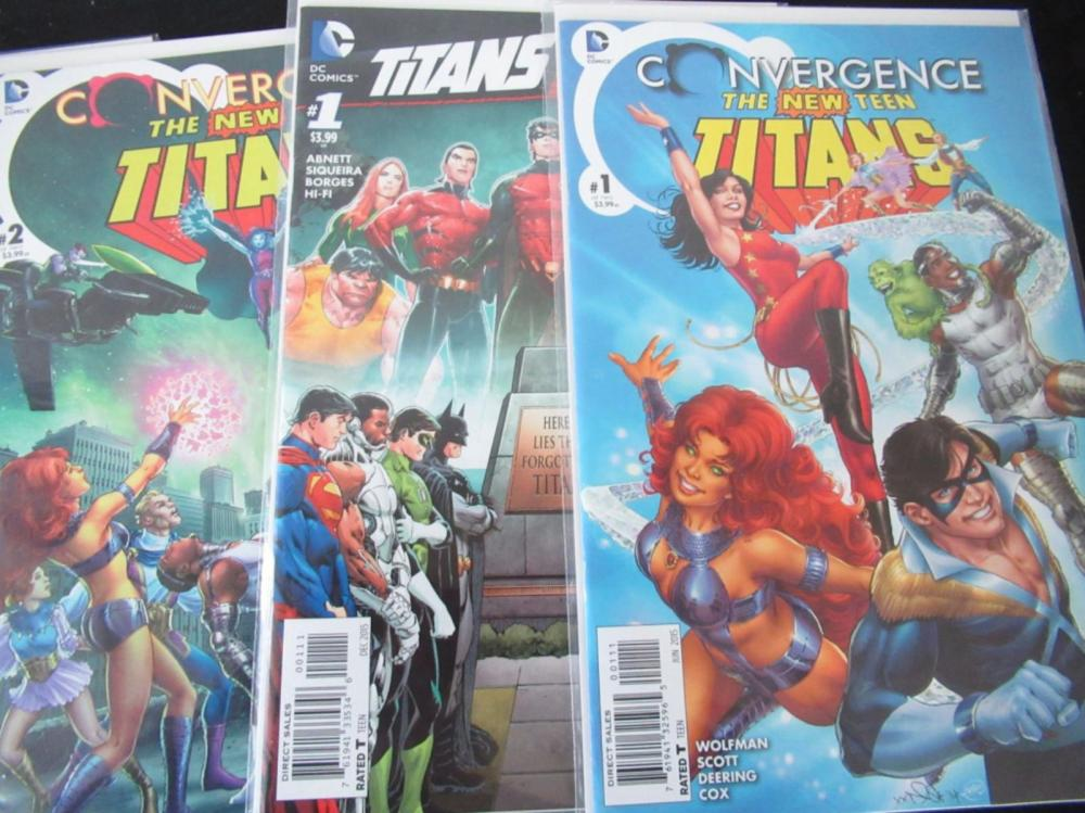 Lot 133: Teen Titans, 5 Annuals, Convergence 1,2 Hunt 1