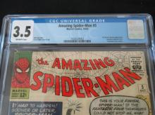 Lot 142: Amazing Spider-Man #5 CGC 3.5 1st Dr Doom