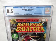 Lot 145: Battlestar Galactica #1 CGC 8.5 Adapt 1st Episode
