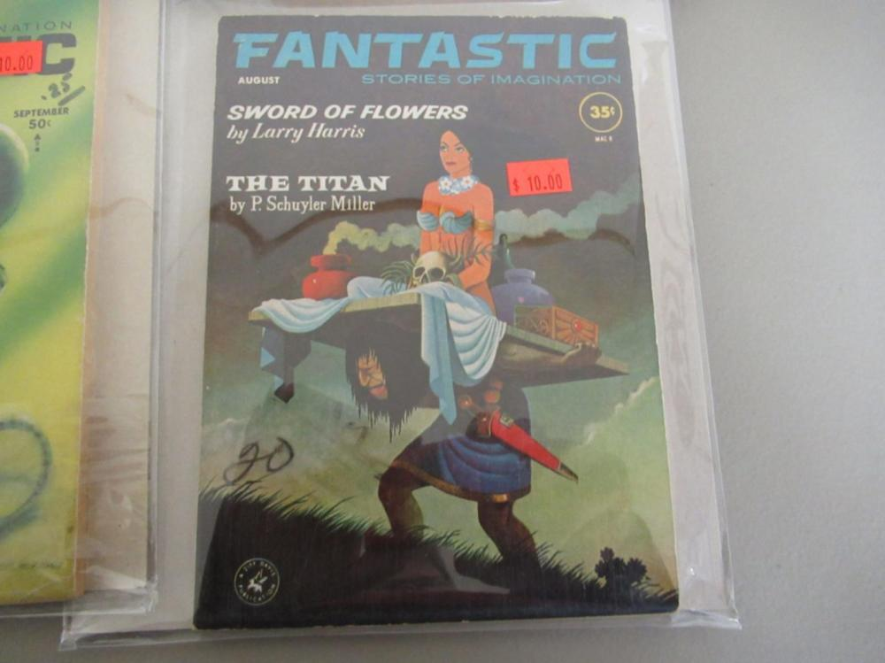 Lot 152: 4 Fantastic Stories of Imagination 1940-50's